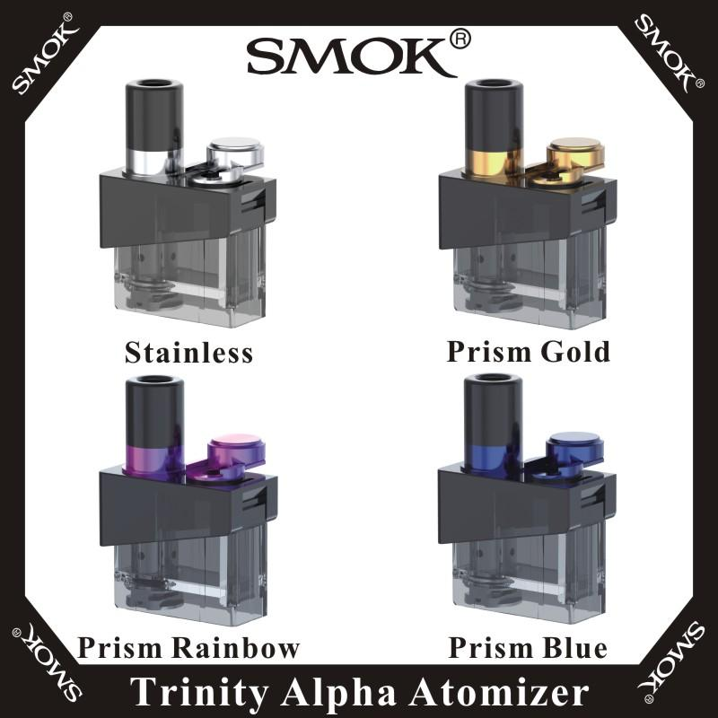 SMOK TRINITY ALPHA SINGLE 2 8ML REFILLABLE REPLACEMENT POD ATOMIZER WITH 2  X REPLACEMENT COILS