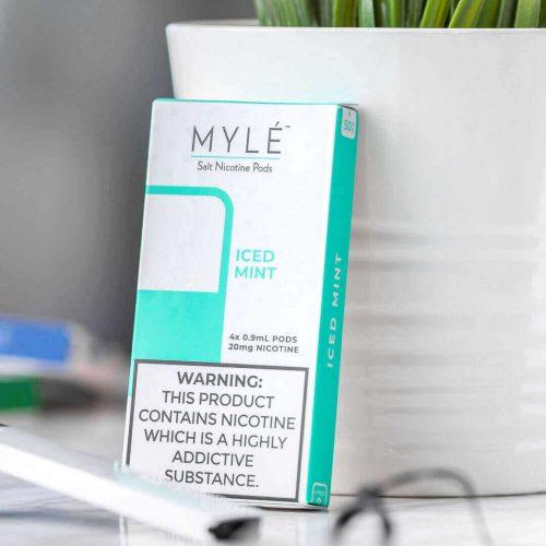 MYLÉ Iced Mint Vape Magnetic Pods 3