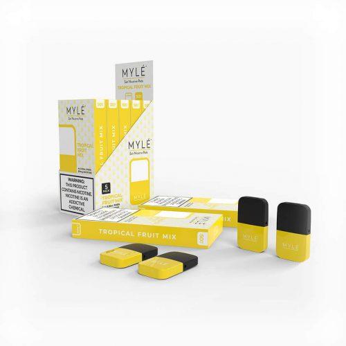 MYLÉ Tropical Fruit Mix Vape Magnetic Pods 1
