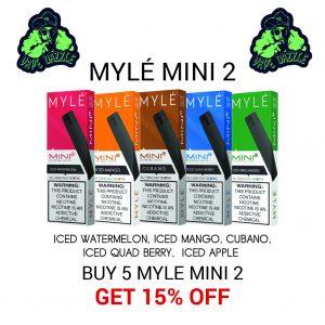 Shop Myle Mini 2 Mix Five Bundle Offer Get 15% Off