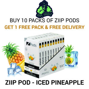 Ziip Pod Iced Pineapple for Juul Buy 10 Get 1 Free+free Delivery