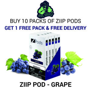Ziip Pod Grape for Juul Buy 10 Pack Get 1 Pack Free + Free Delivery