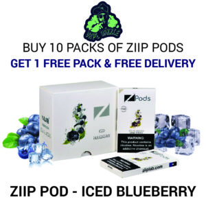 Shop Ziip Pod for Juul Iced Blueberry 10pack Get 1 Pack Free + Free Delivery