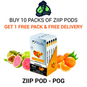 Shop Ziip Pod for Juul Pog 10pack Get 1 Pack Free + Free Delivery
