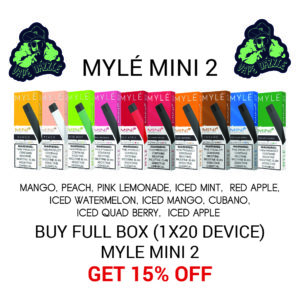 Myle Mini 2 Full Box Lower Price Offer 10 Option 20pack