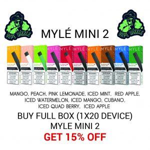 Myle Mini 2 Full Box Lower Price Offer 10 Option 20pack