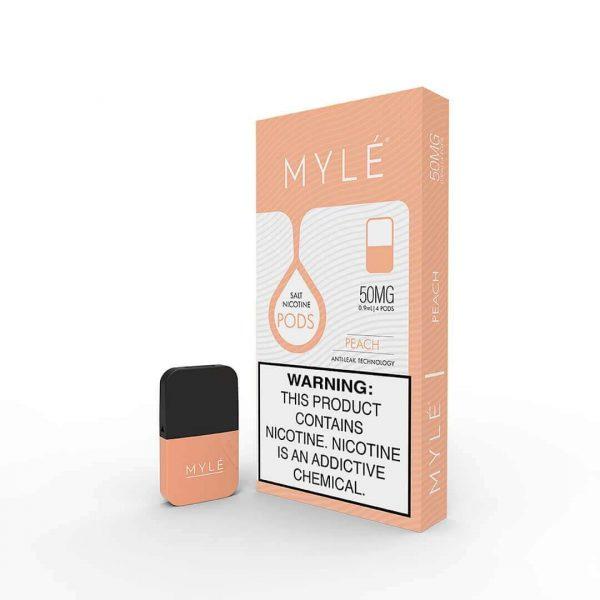 MYLÉ V4 Pods Peach Flavor 50mg in Dubai UAE 1