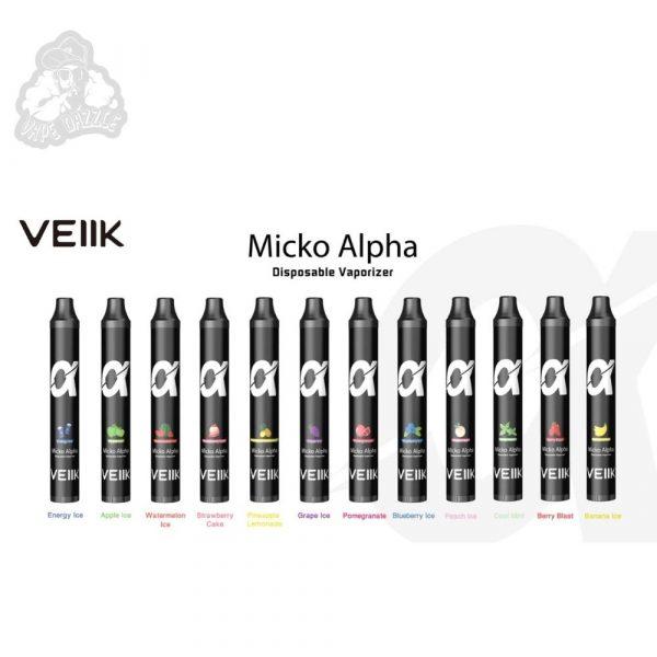 VEIIK Micko α (Alpha) Disposable Vape Pen 600 PUFFS 1