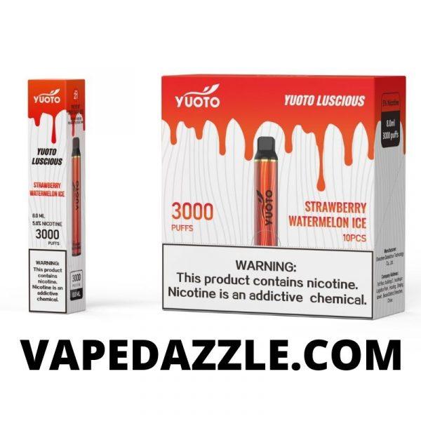 YUOTO Lucious Disposable Vape 3000 Puffs 1