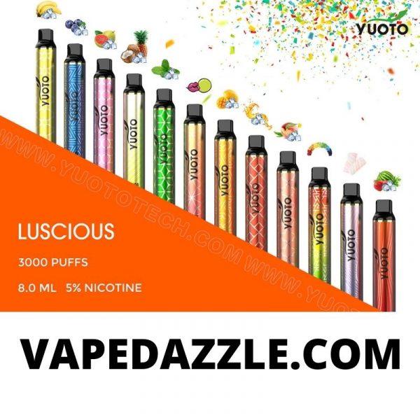 YUOTO Lucious Disposable Vape 3000 Puffs 2