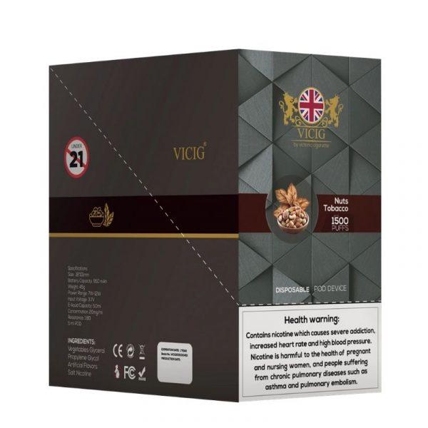VICIG DISPOSSIBLE 20MG UK 1500 PUFFS 1