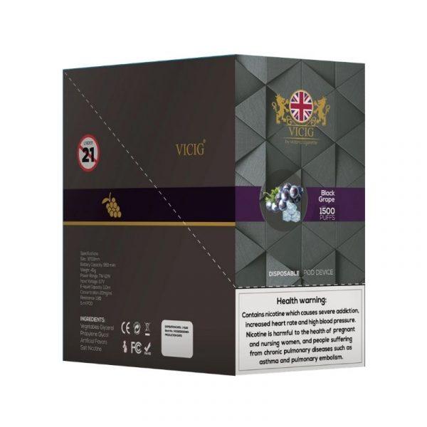 VICIG DISPOSSIBLE 20MG UK 1500 PUFFS 2