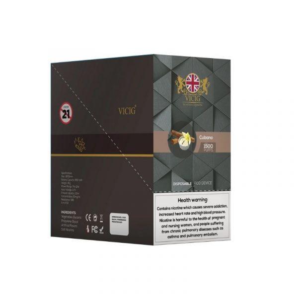 VICIG DISPOSSIBLE 20MG UK 1500 PUFFS 5